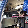 Fooey in the hair salon van